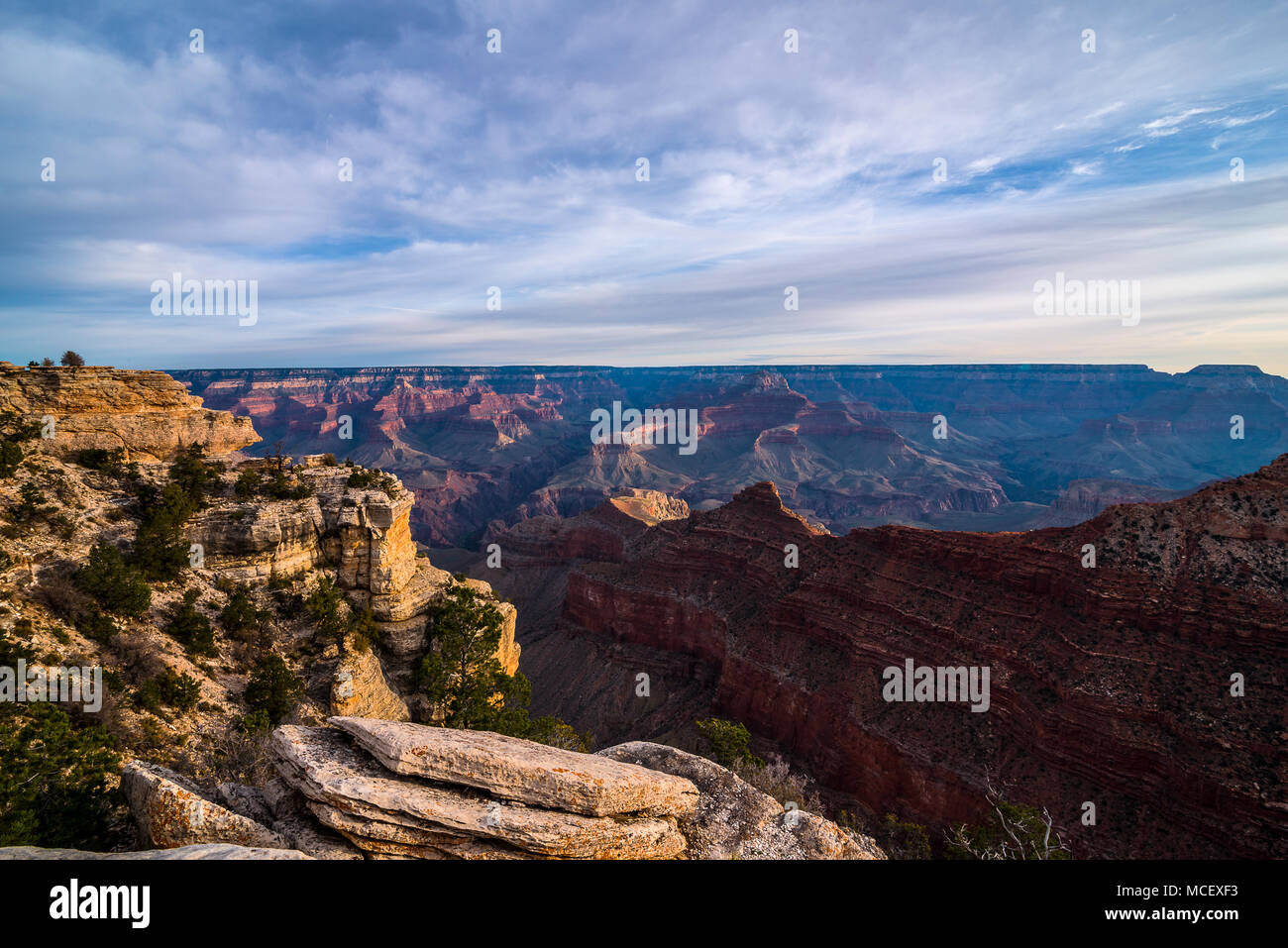 Le Parc National du Grand Canyon, Arizona USA Banque D'Images