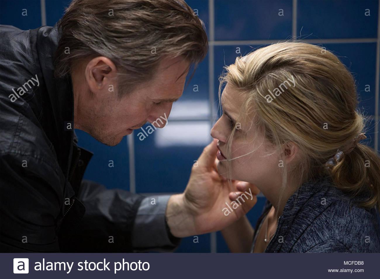 Prises 3 - 2014 film EuropaCorp avec Liam Neeson et Maggie Grace Photo Stock