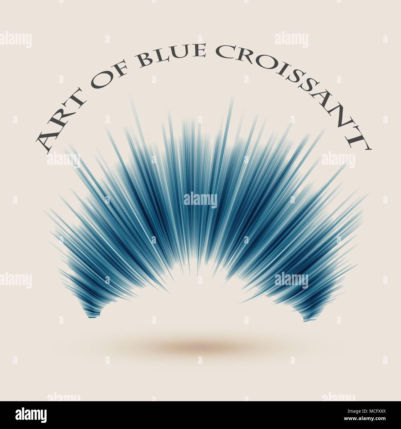 Art de fond bleu croissant. Eps10 vector Illustration Illustration de Vecteur