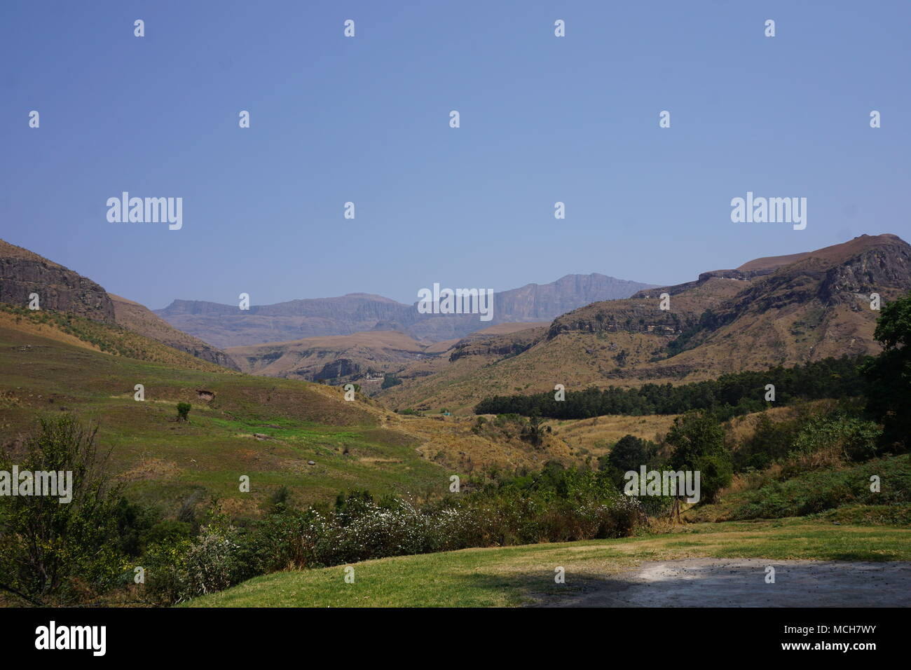 Montagnes du Drakensberg Photo Stock