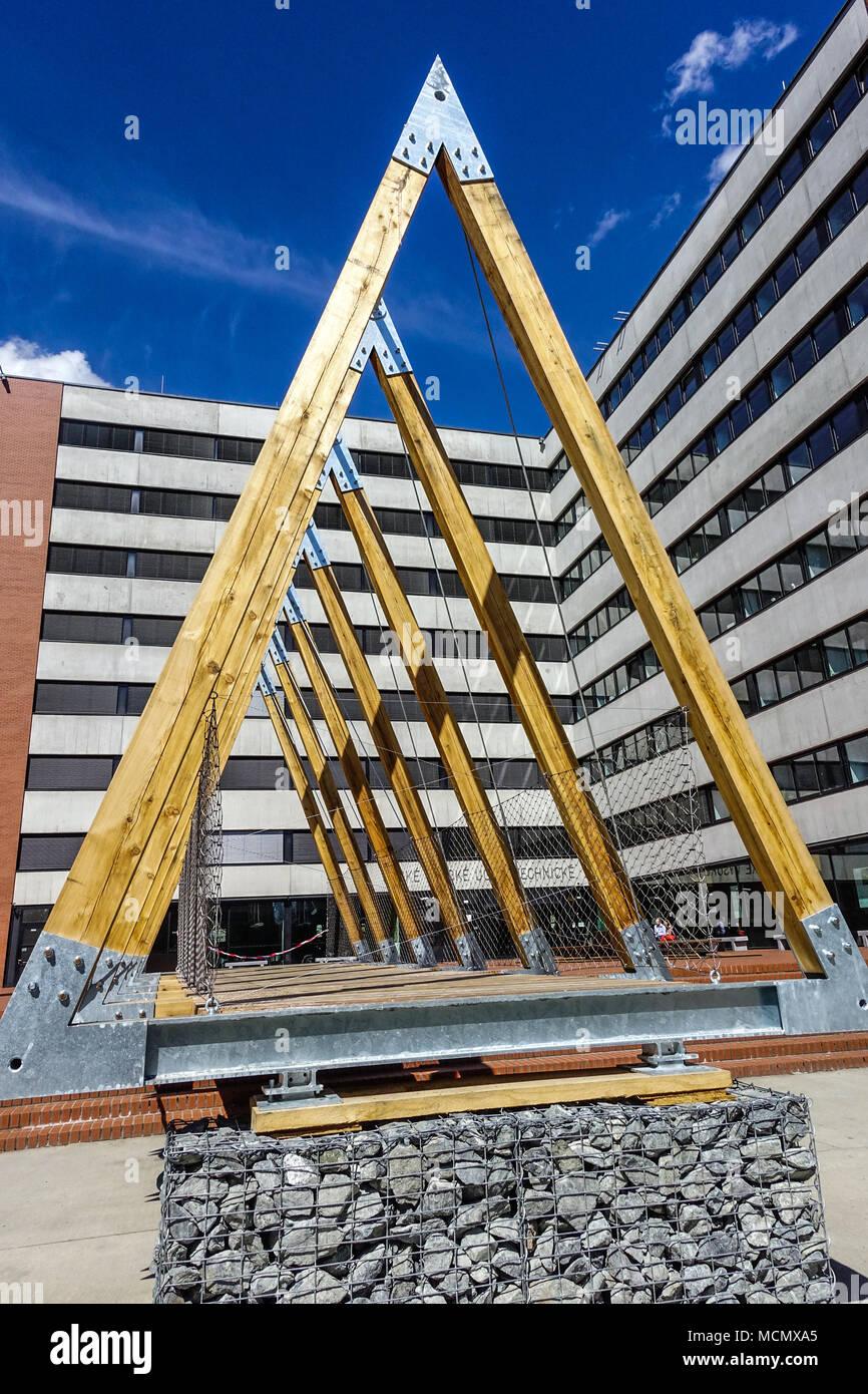 CVUT, Université technique tchèque Faculté d'architecture de l'Université campus, Dejvice, Prague, République Tchèque Photo Stock