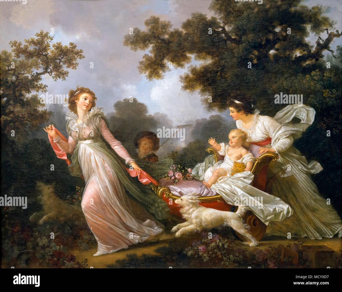 L'enfant bien-aimé, Jean Honoré Fragonard et Marguerite Gérard, vers 1780-1785, National Gallery of Art, Washington DC, USA, Amérique du Nord Photo Stock