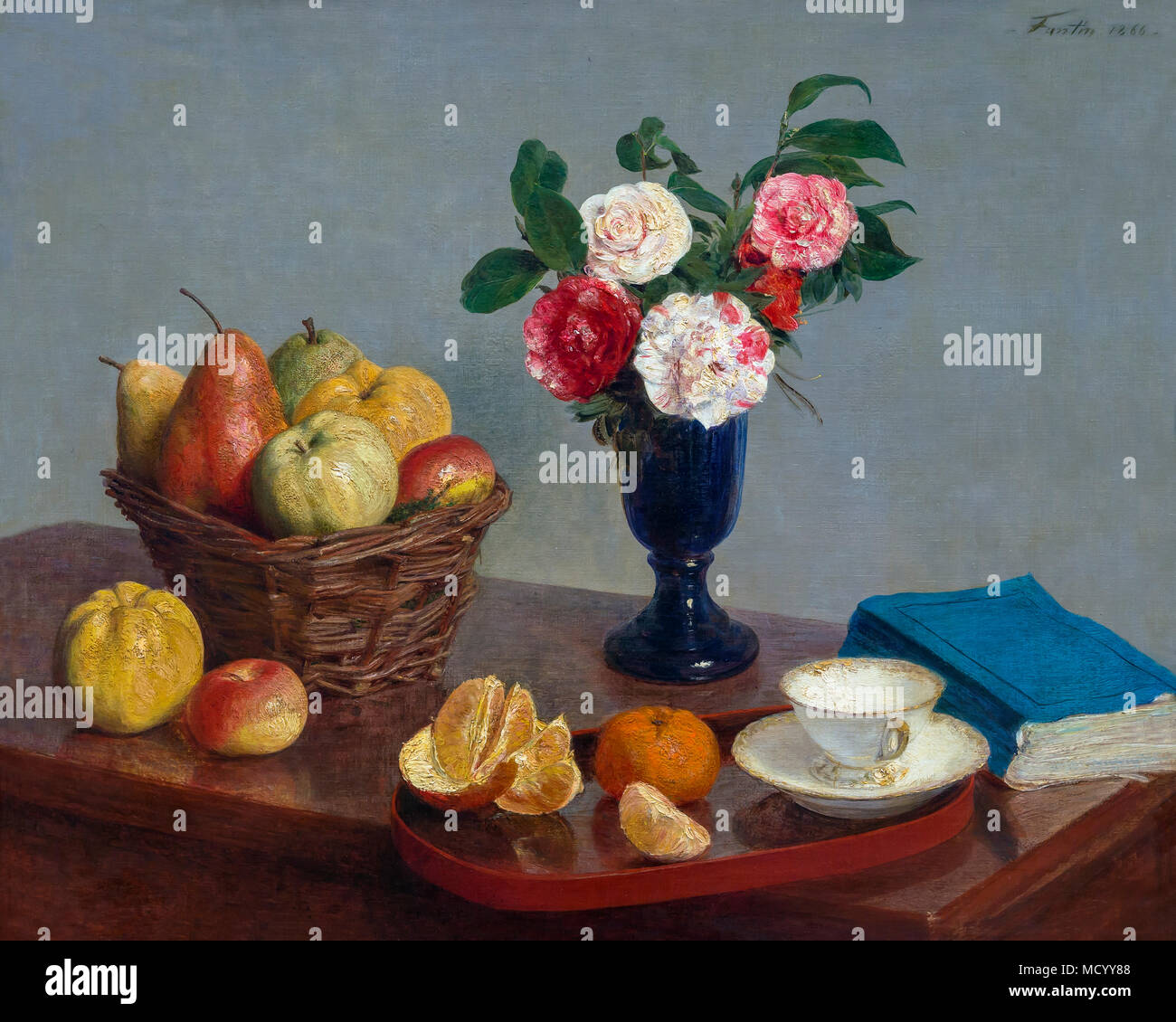 Still Life, Henri Fantin-Latour, 1866, National Gallery of Art, Washington DC, USA, Amérique du Nord Photo Stock