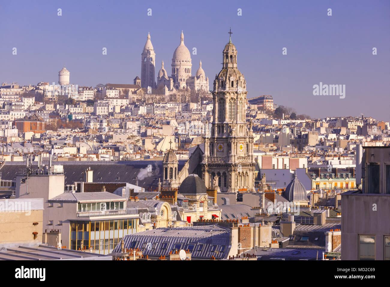 Basilique du Sacré-Coeur le matin, Paris, France Photo Stock