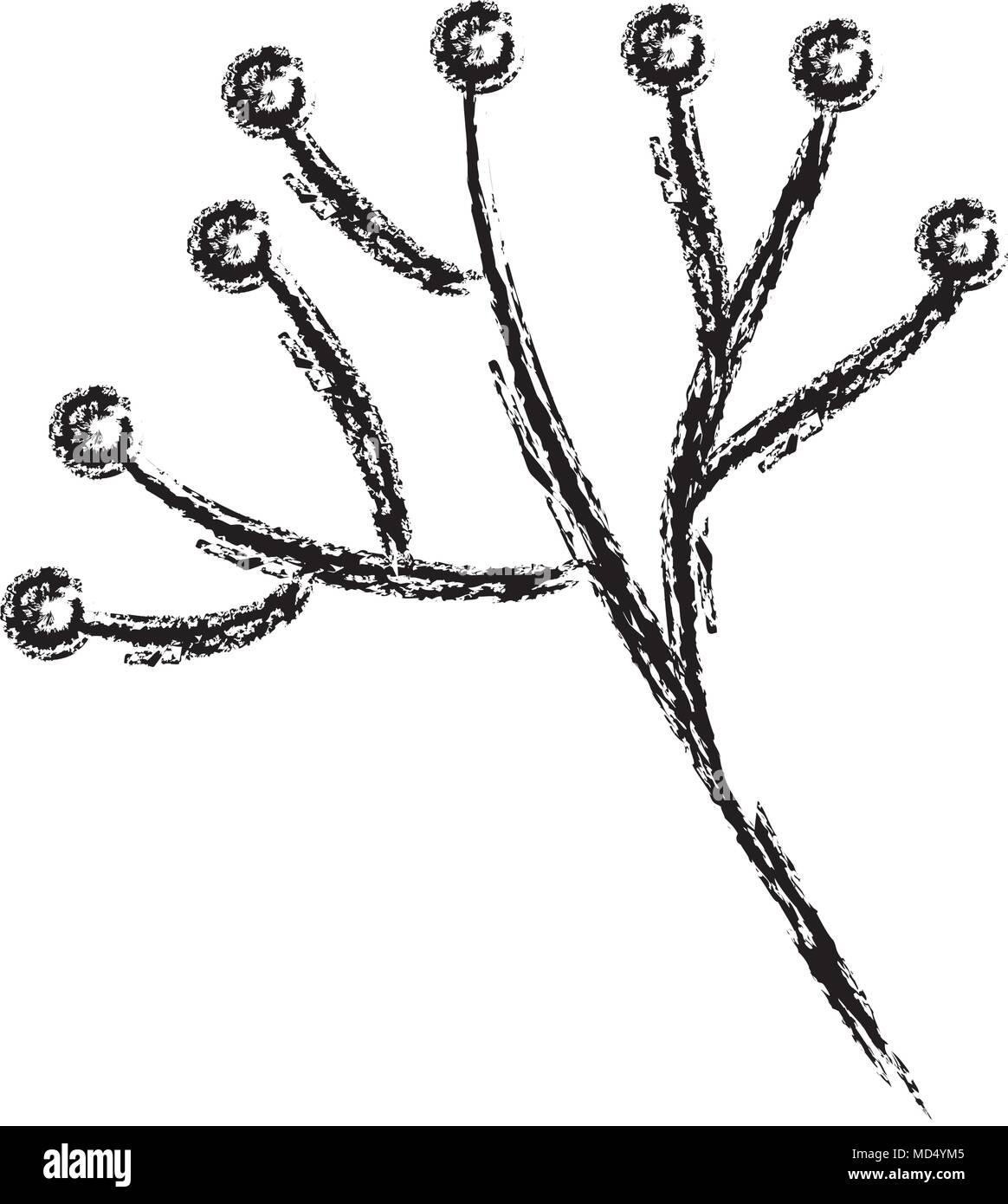 branche d'arbre décoratif avec boules vecteurs et illustration