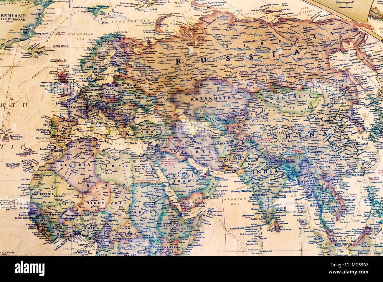 Carte Du Monde Détaillée partie d'une carte du monde détaillée, qui dépeint les continents