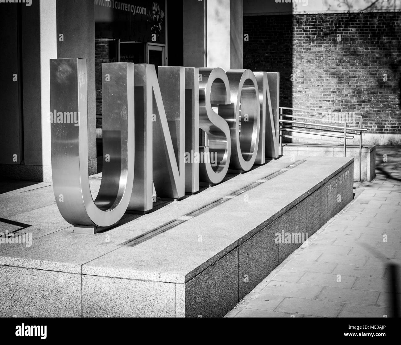 Le QG de l'unisson à Londres Banque D'Images