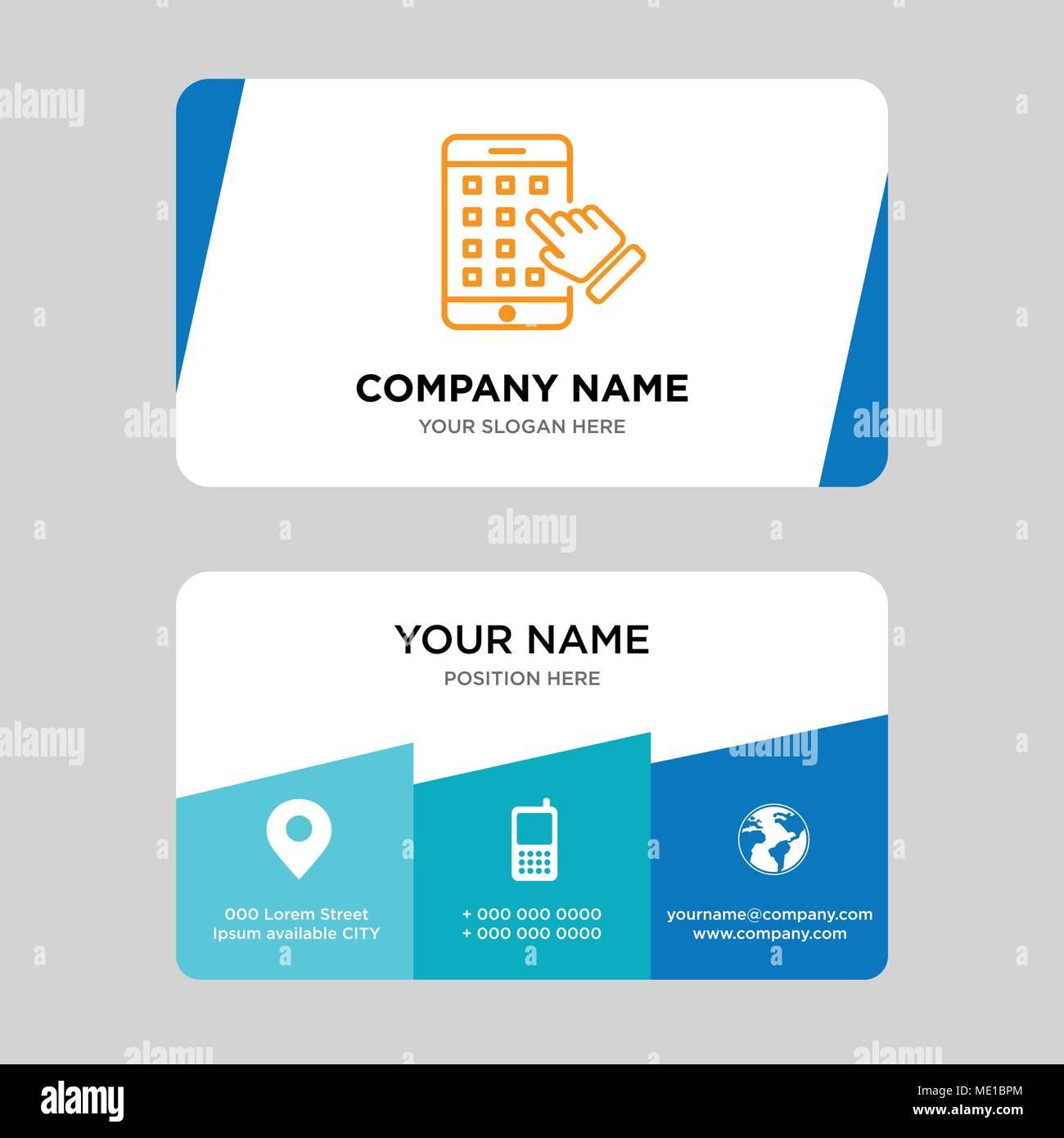 Modle De Conception Carte Daffaires Liphone En Visite Pour Votre Entreprise Crative Et Moderne Didentit Propre Vector Illustration