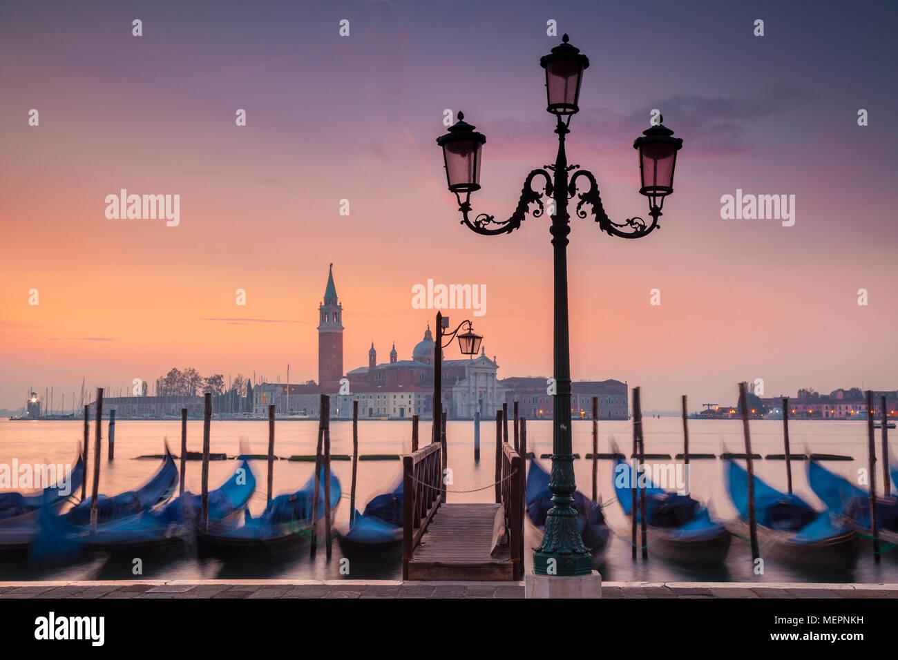 Matin brumeux sur Venise, Italie Photo Stock