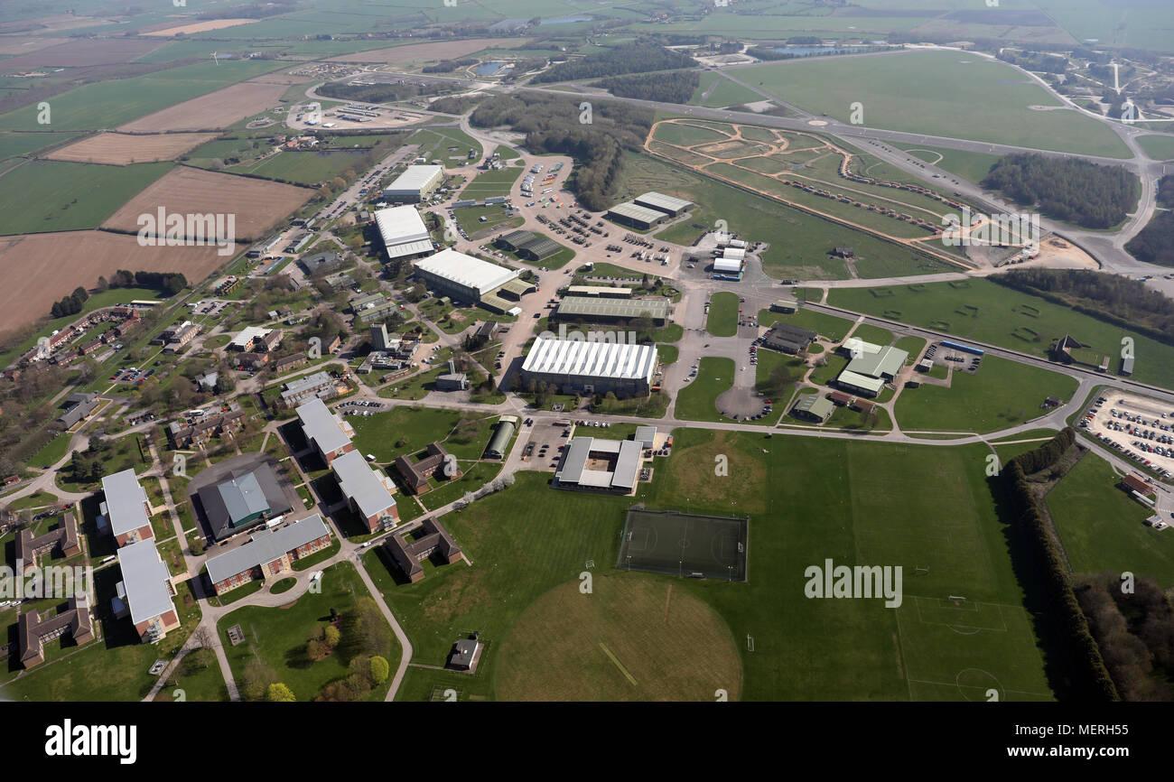 Vue aérienne de l'École de défense des transports à l'Aérodrome de Molescroft Photo Stock
