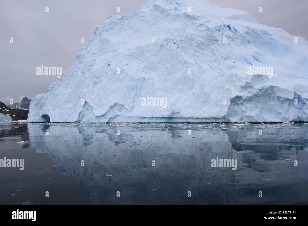 La glace de l'Antarctique Photo Stock