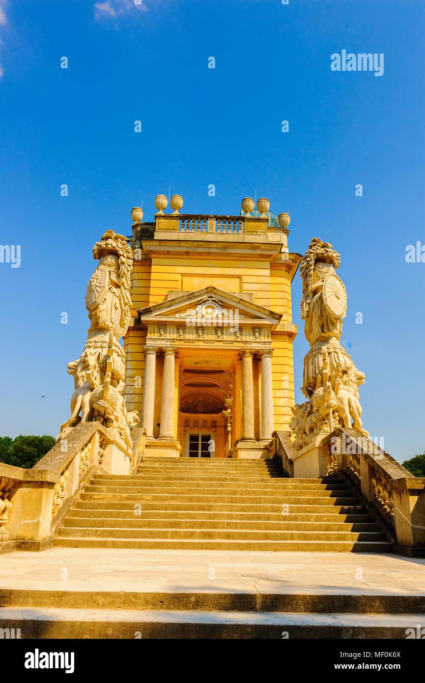 Chapelle du château, palais de Schonbrunn, Vienne, Ausria Photo Stock