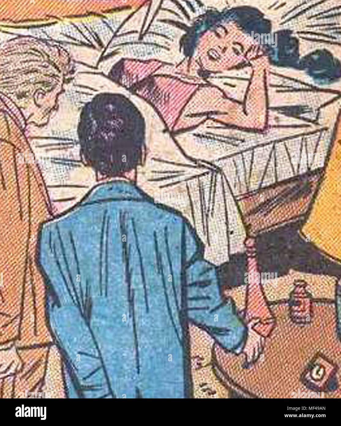 Classic vintage bande dessinée sur le thème de l'horreur des images clipart cool avec les bulles de pâte à partir de l'image authentique 1940 comic books âge d'or plus de 3000 plus à choisir Photo Stock