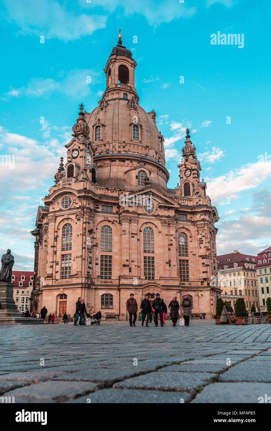 Frauenkirche, Dresde (Allemagne) Photo Stock