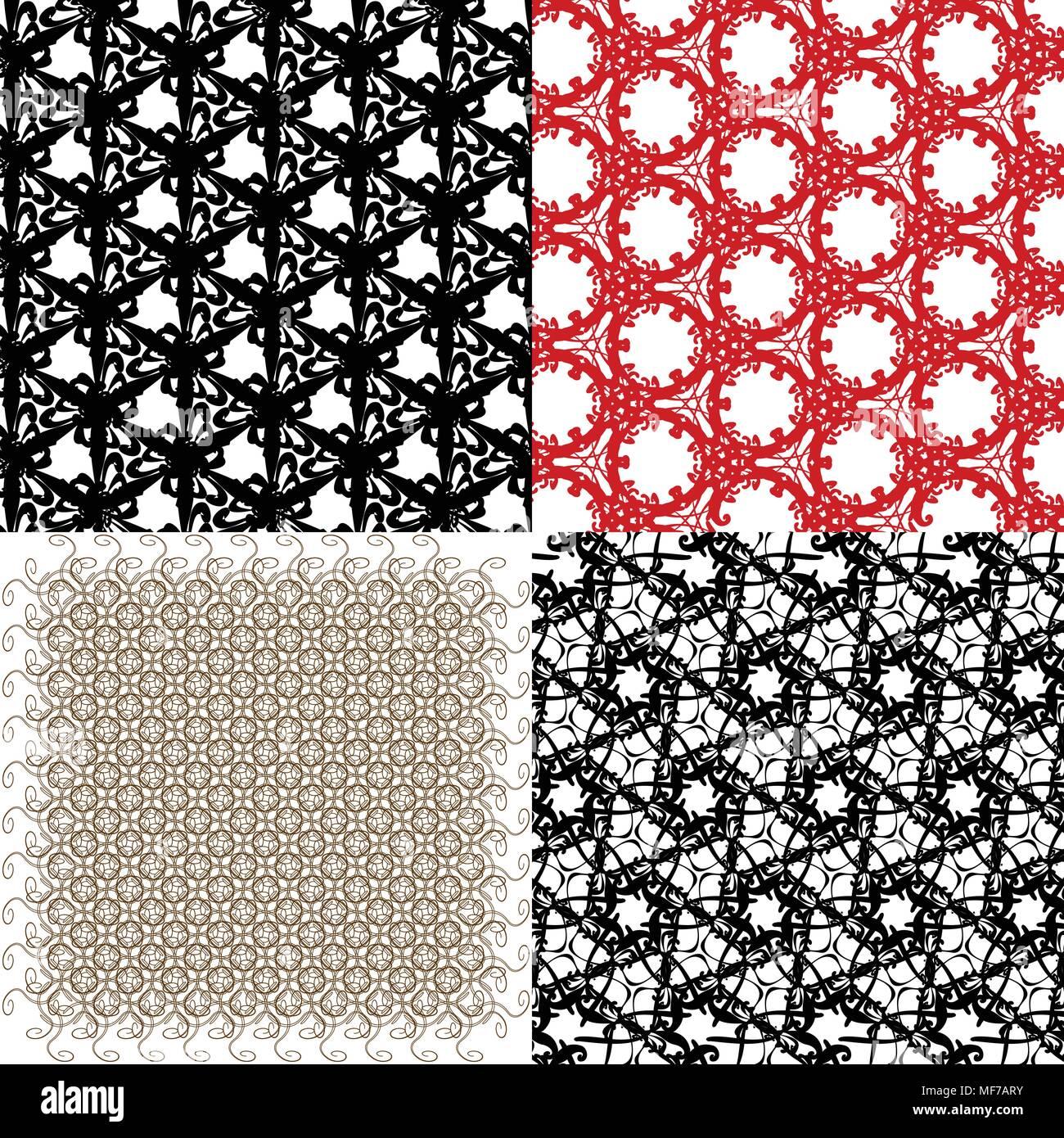 Ensemble D Abstract Vintage Papier Peint Geometrique Motif De Fond