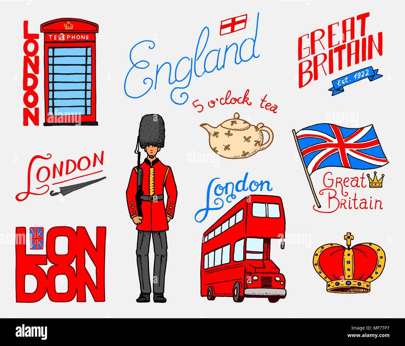 La Couronne Britannique Et La Reine Théière Avec Du Thé