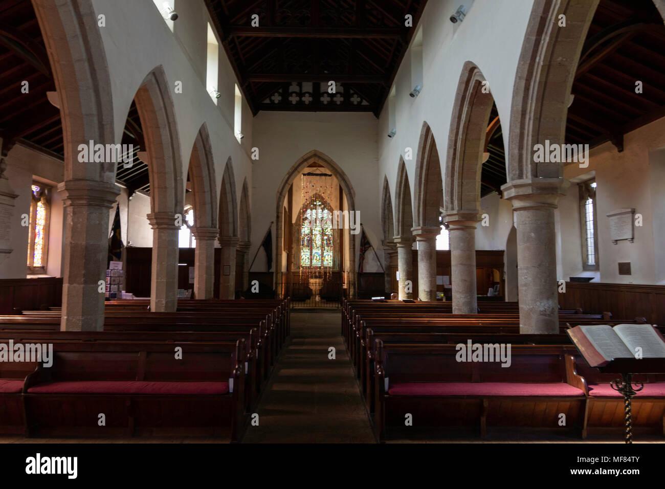 All Saints Church Ripley,intérieur North Yorkshire, Angleterre, Royaume-Uni. Photo Stock