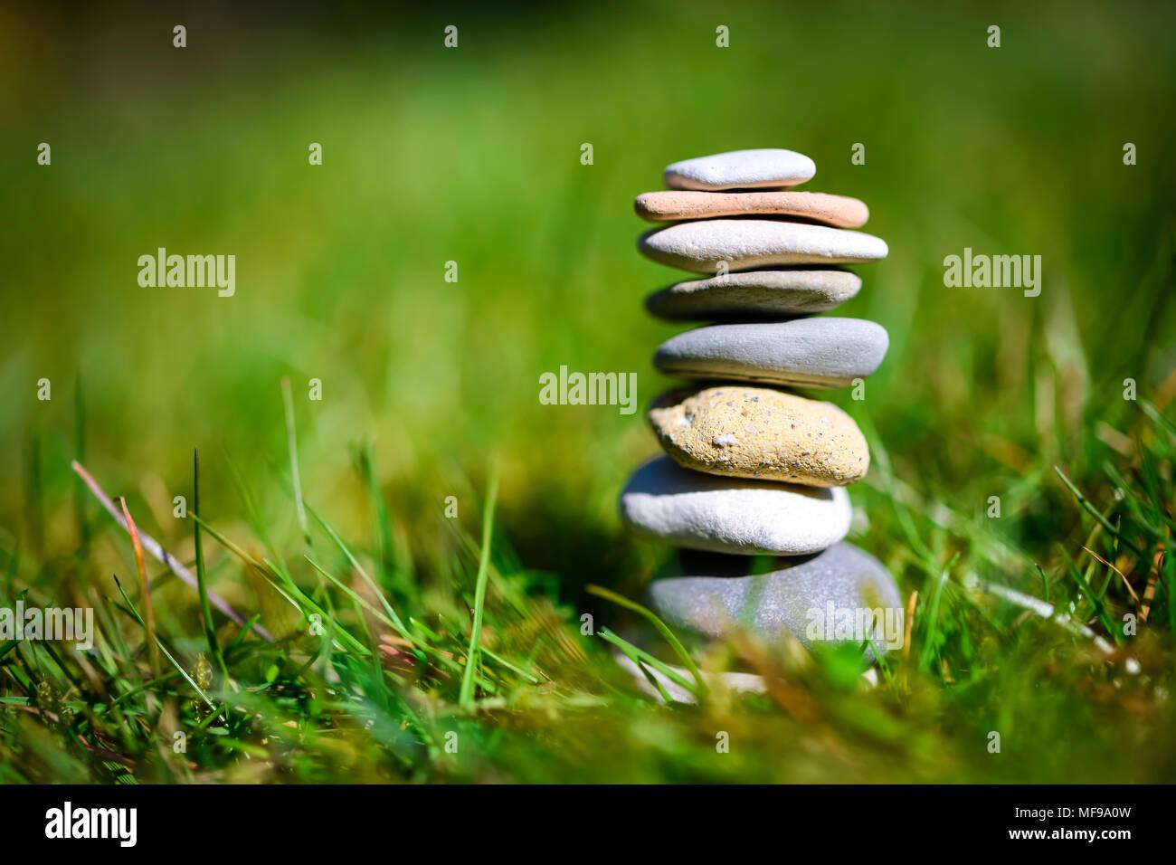 Des pierres empilées, l'harmonie, l'équilibre Photo Stock