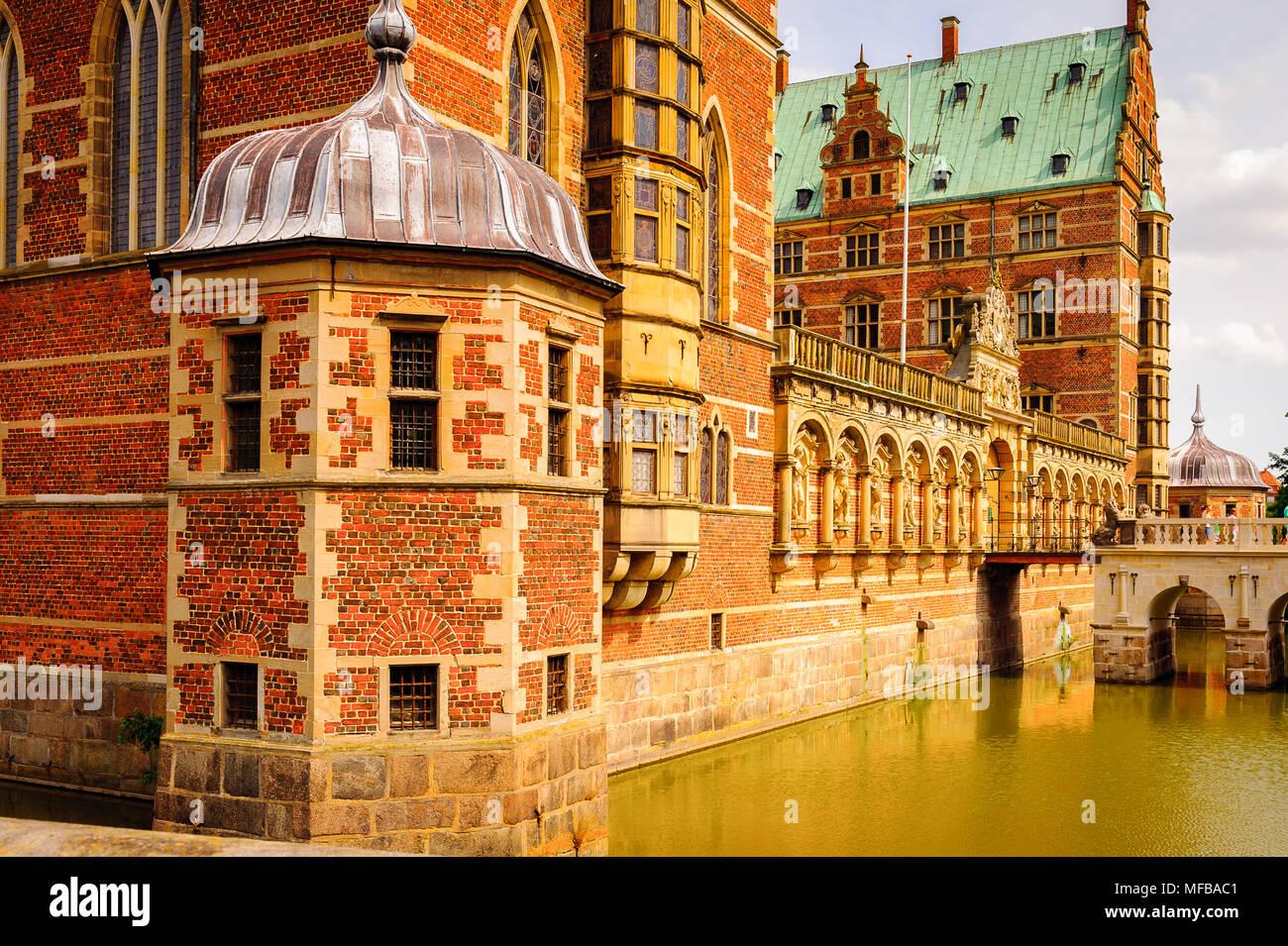 Château de Frederiksborg, Hillerod, Danemark. En fait c'est le Musée de l'histoire nationale Banque D'Images