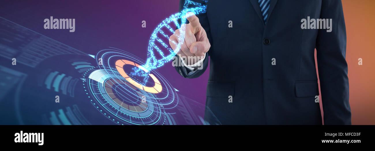 Image composite de l'article de présentation d'affaires Photo Stock