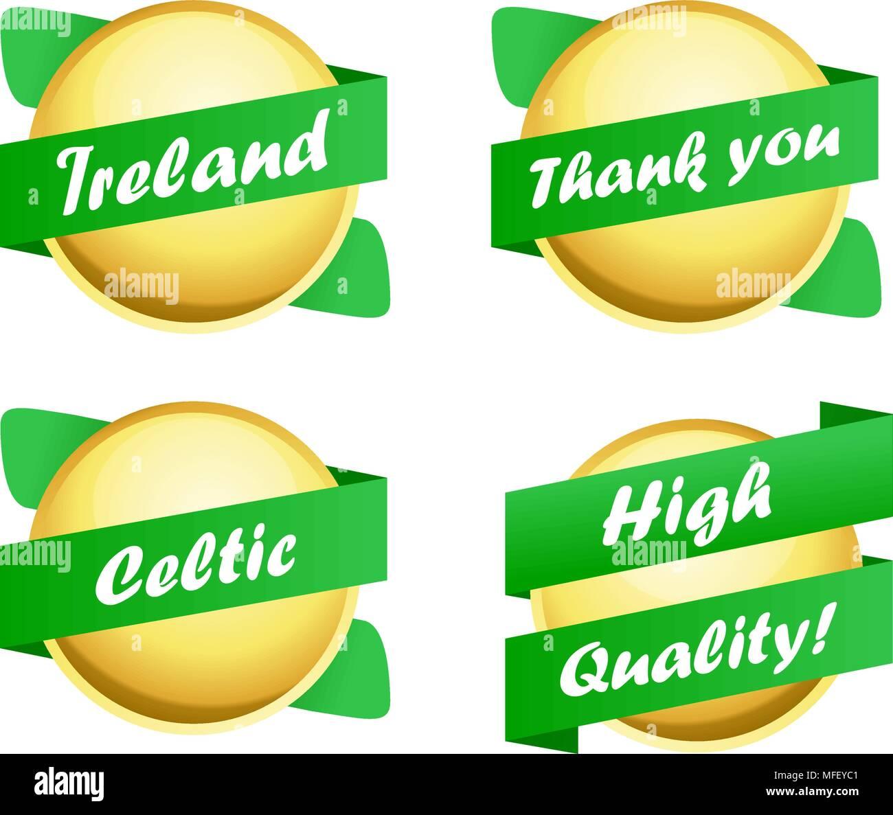 Étiquettes celtique Photo Stock