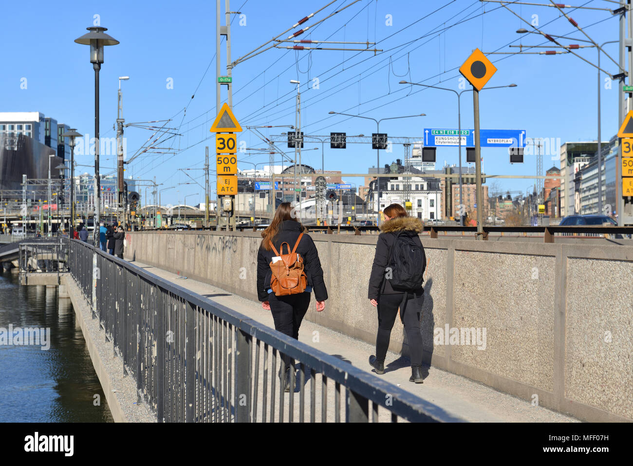Pont central (Centralbron) Photo Stock