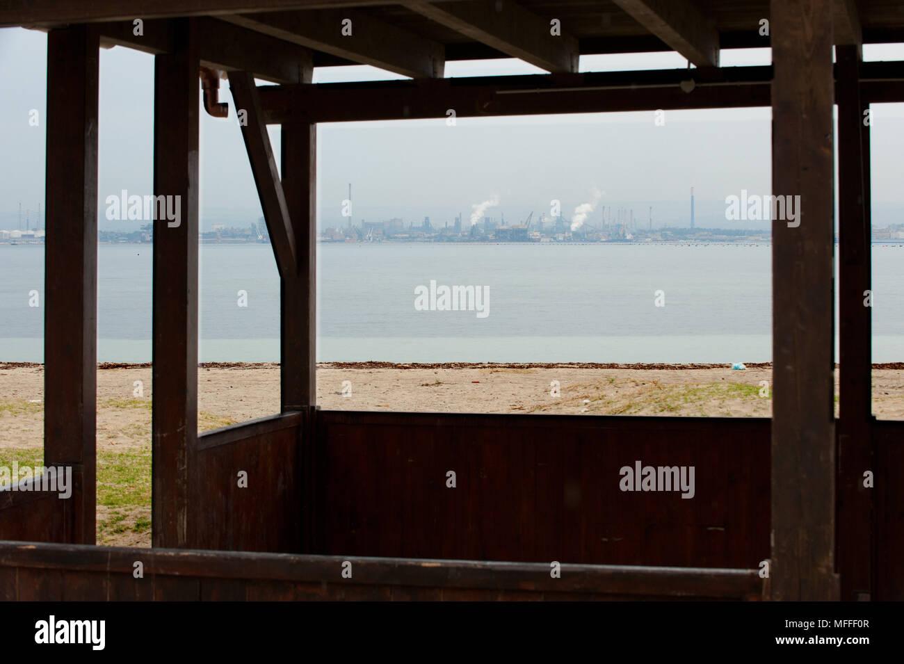 Taranto, 25/09/2012: Il Golfo di Taranto da Punta San Vito. ©Andrea Sabbadini Photo Stock
