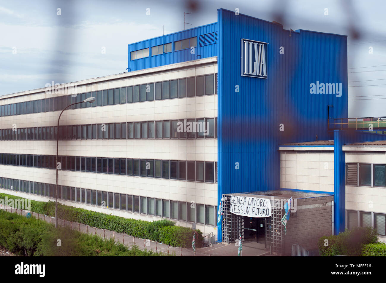 Taranto. L'usine sidérurgique ILVA. Italie Photo Stock