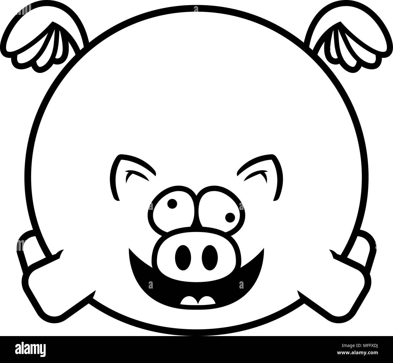 Illustration D Un Dessin D Un Cochon à La Folie Vecteurs Et