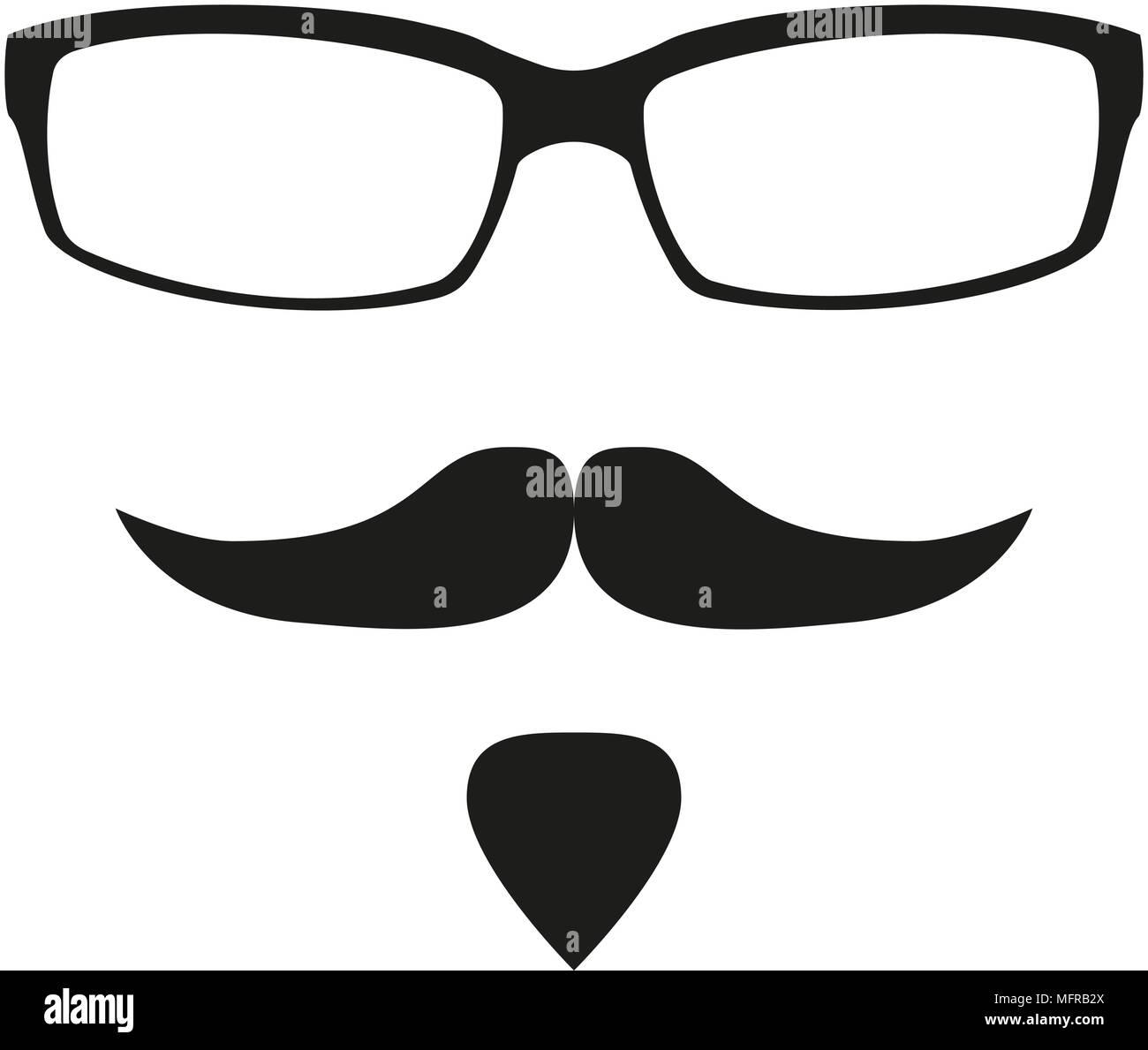 Noir Blanc Et Avatar Lunettes AnonymeSilhouette Moustache Barbe BrCxeod