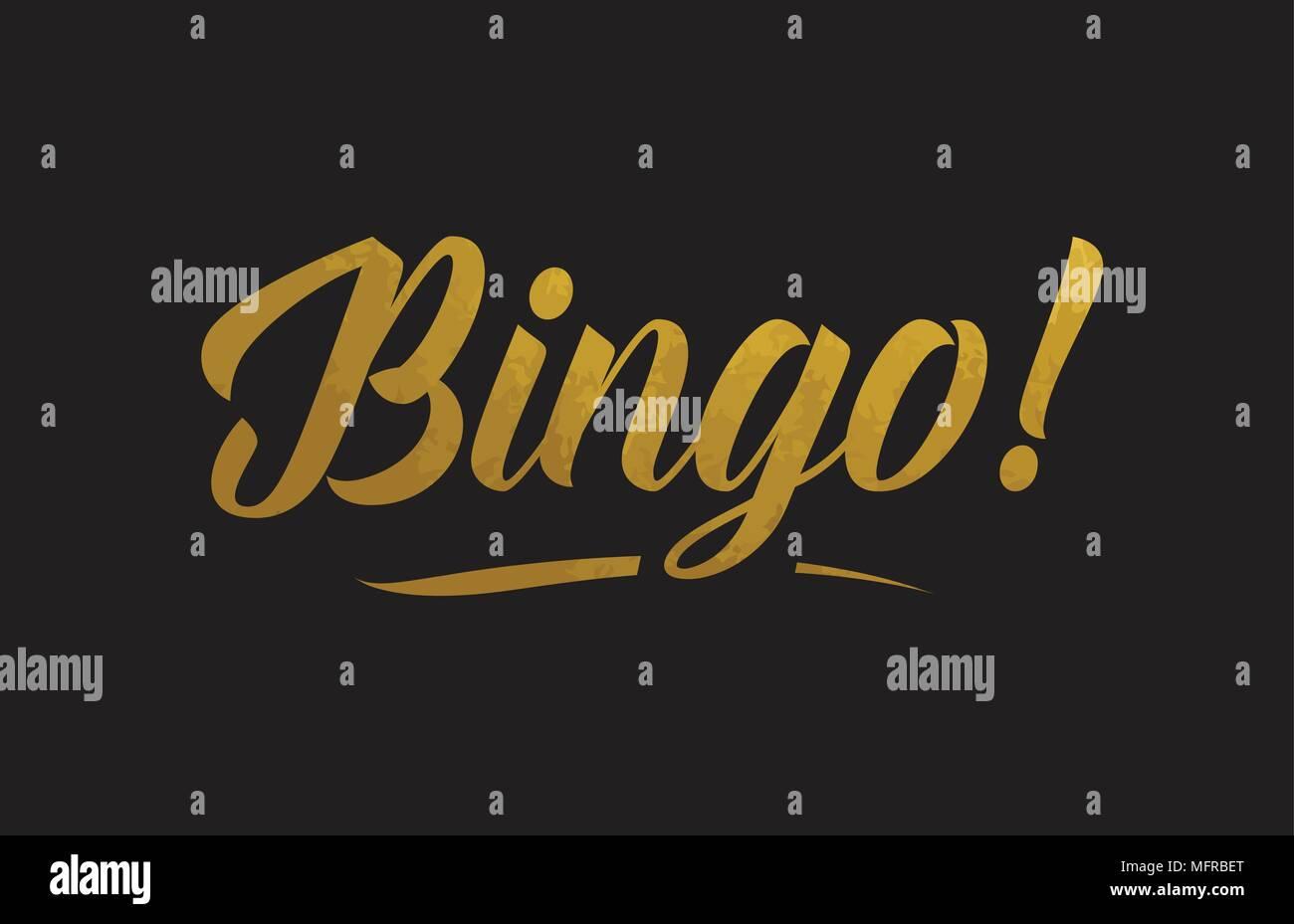 Or Bingo Golden Mot Texte Texture Convient Pour Carte De Visite Brochure Ou Typographie Design