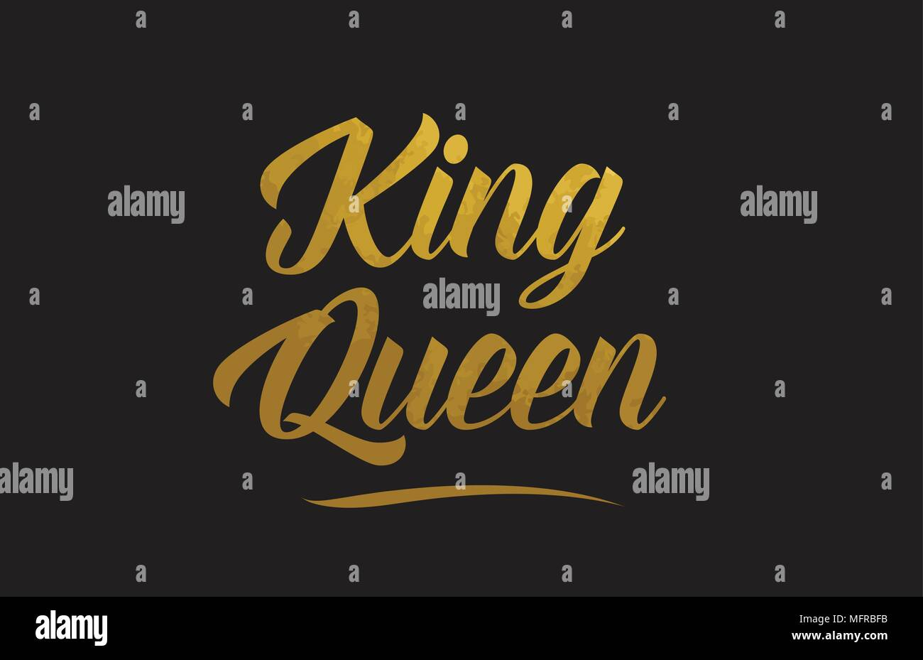 King Queen Or Word Texte Texture Convient Pour Carte De Visite Brochure Ou Typographie Design