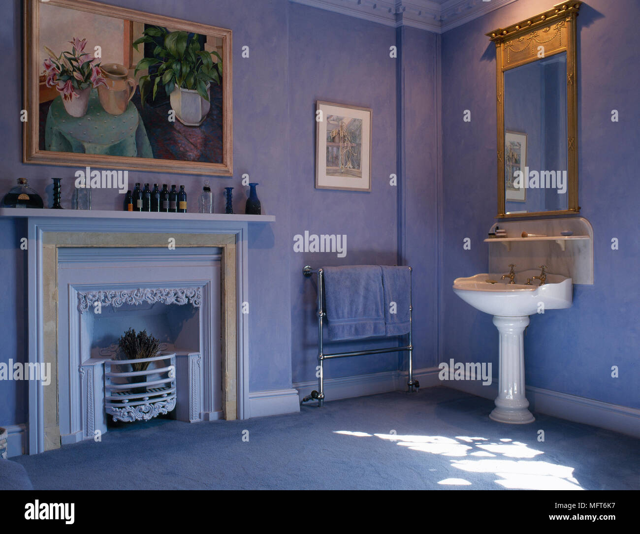 Salle De Bain Equipee ~ bleu traditionnel une salle de bains privative est quip e d un