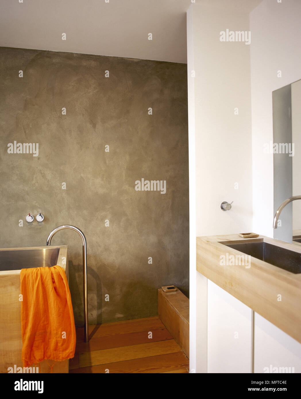 Salle De Bain Avec Bois détails salle de bains avec une baignoire en bois, moderne