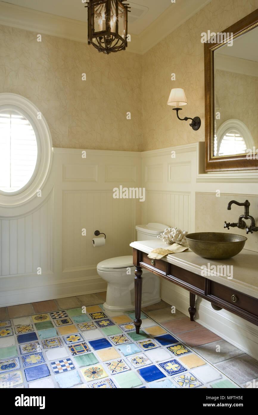 Plan De Toilette Salle De Bain bol vasque sur plan de toilette dans salle de bains de style