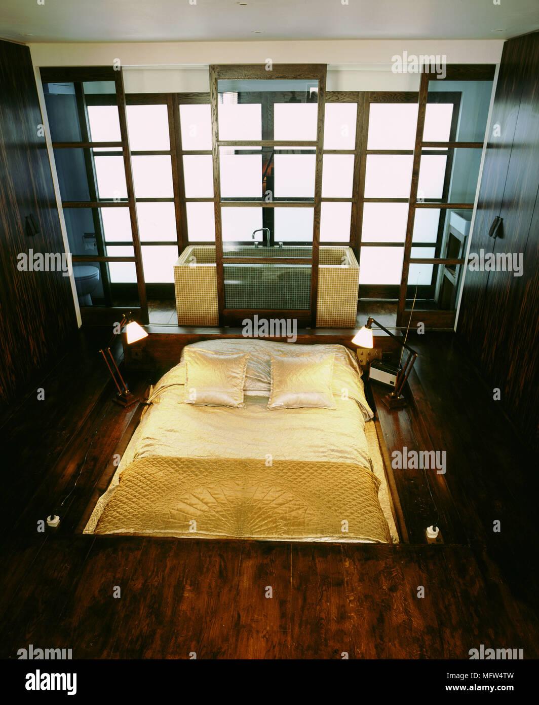 Chambre Et Salle De Bain Attenante salle de bains attenante chambre à coucher moderne salon