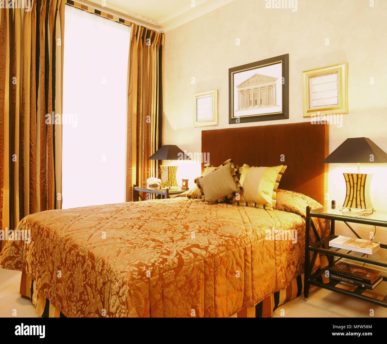 Meubles de chambre à coucher traditionnel tête de lit couvre lit