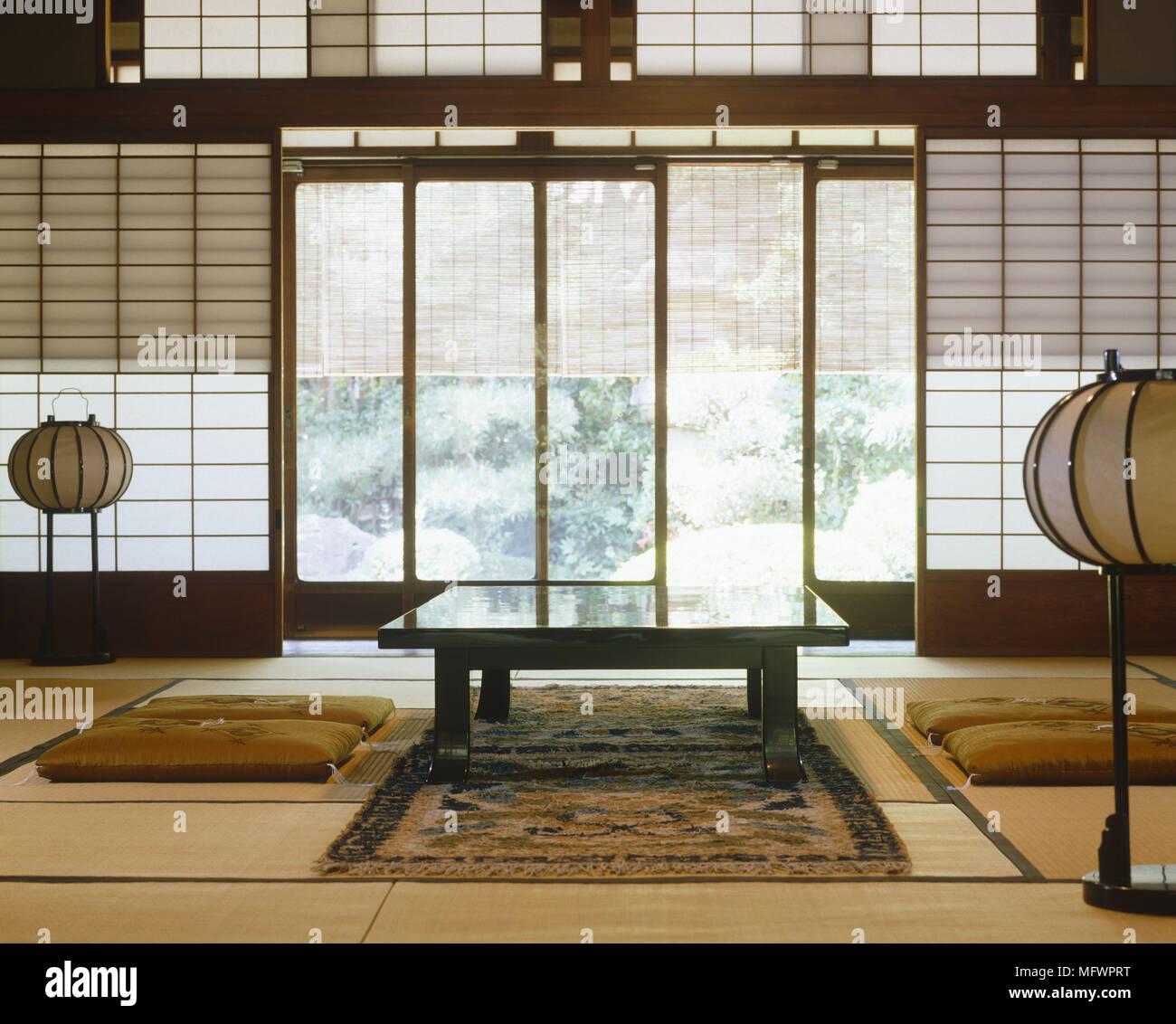 Table À Manger Japonaise table à manger de style japonais avec coussin dans la