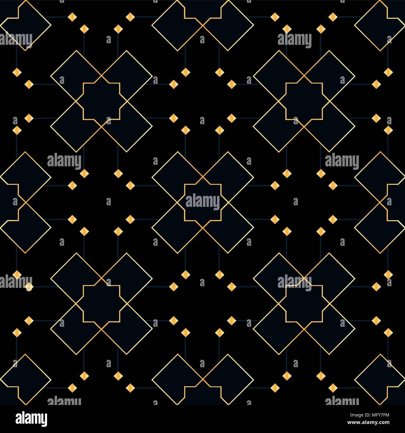 ornement vectoriel continu en style arabe mod le pour papiers peints et fonds motif noir et. Black Bedroom Furniture Sets. Home Design Ideas