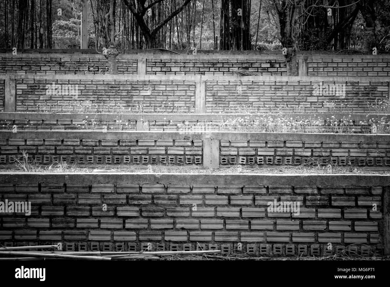 Le noir et blanc et en pierre escalier en béton l architecture