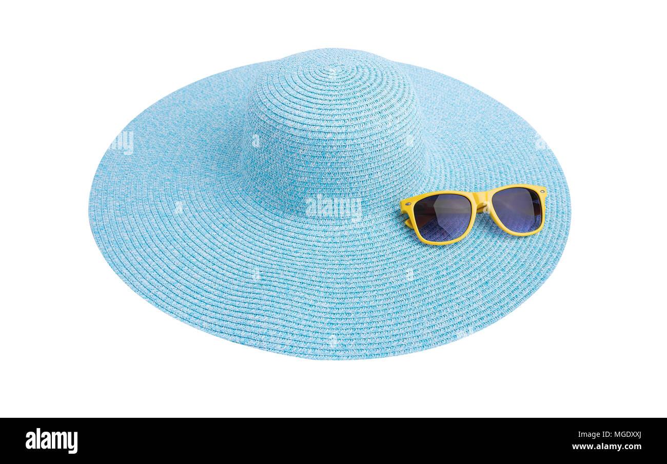 arrive prix de gros vente usa en ligne Lunettes de soleil sur une mer hat Banque D'Images, Photo ...