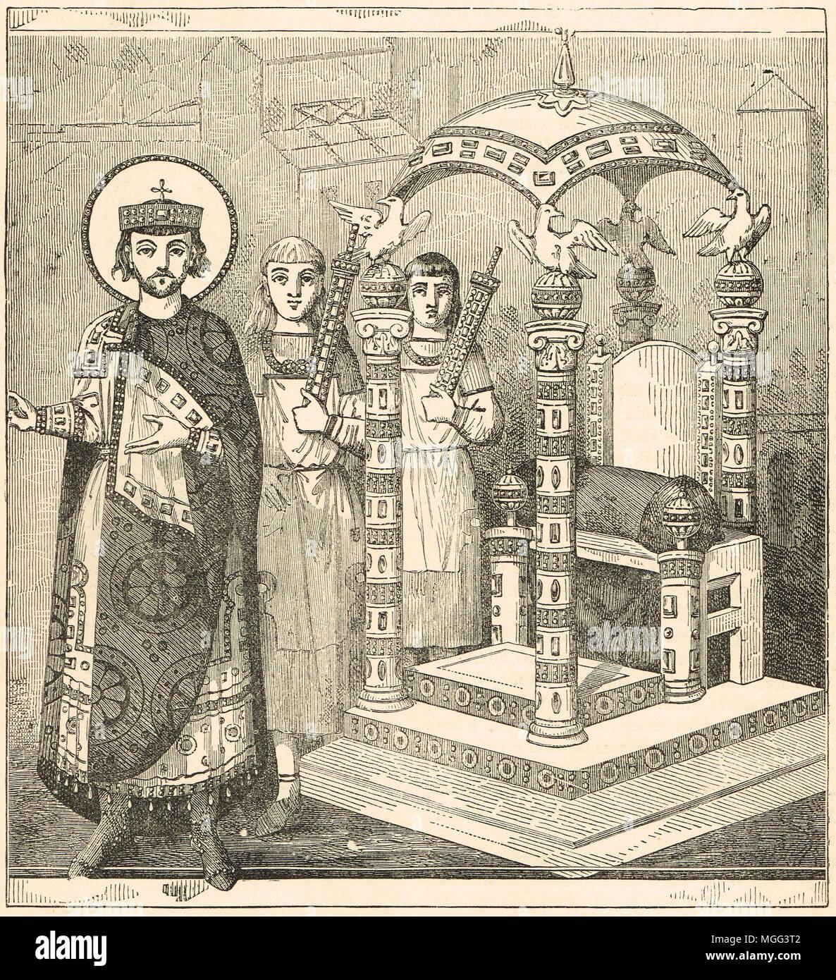 Le trône de l'empereur de Constantinople Photo Stock