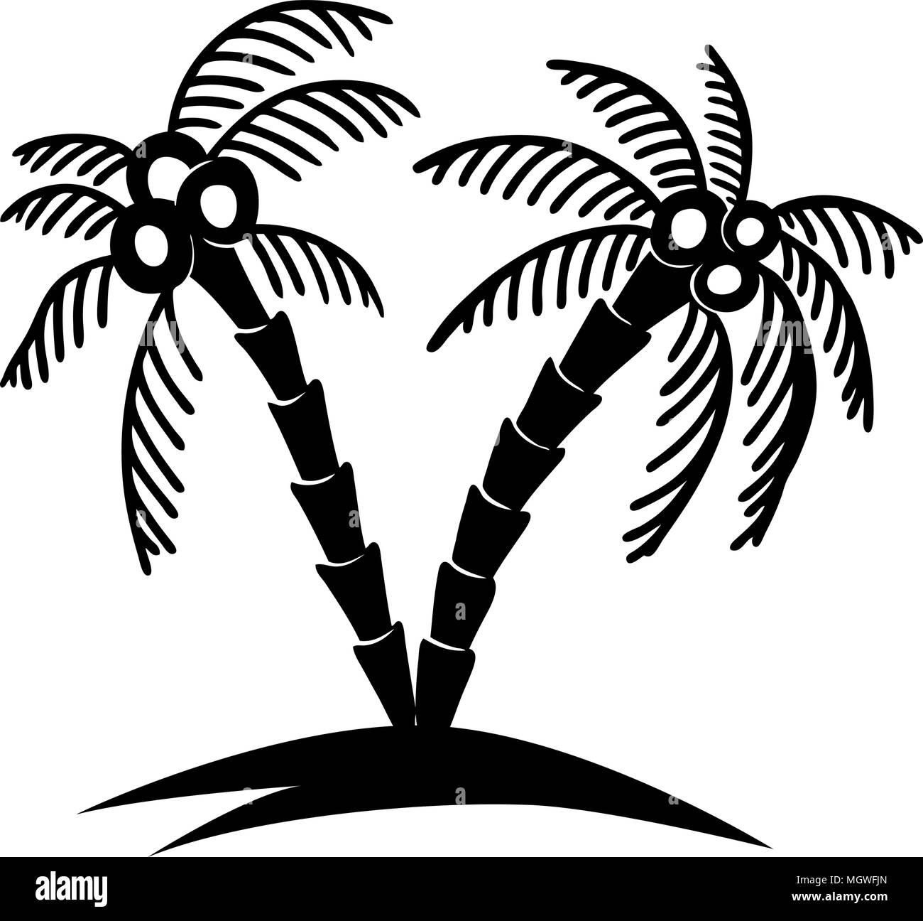 Ensemble De Main Appelee Palmier Illustrations Lelement Conception Pour Poster Carte Visite Banniere T Shirt Image Vectorielle