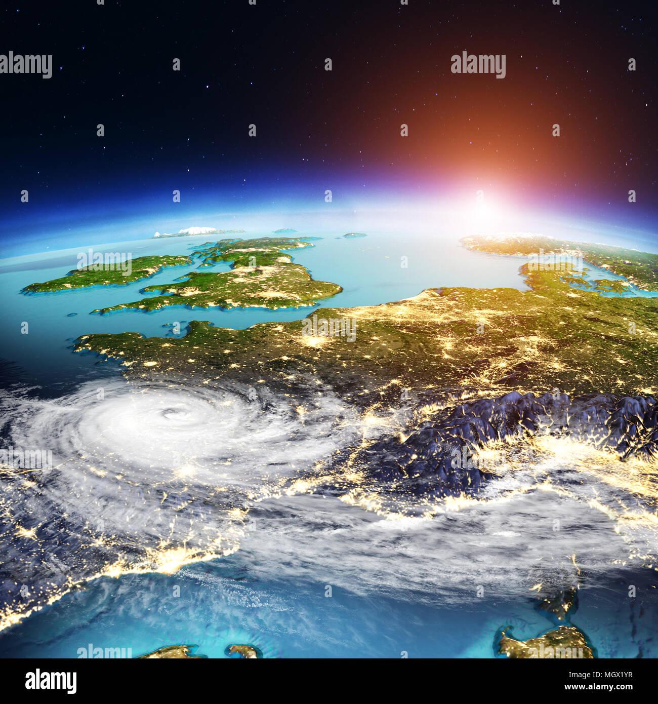 Carte De Leurope Meteo.L Europe De L Ouest Meteo Carte Le Rendu 3d Banque D Images Photo