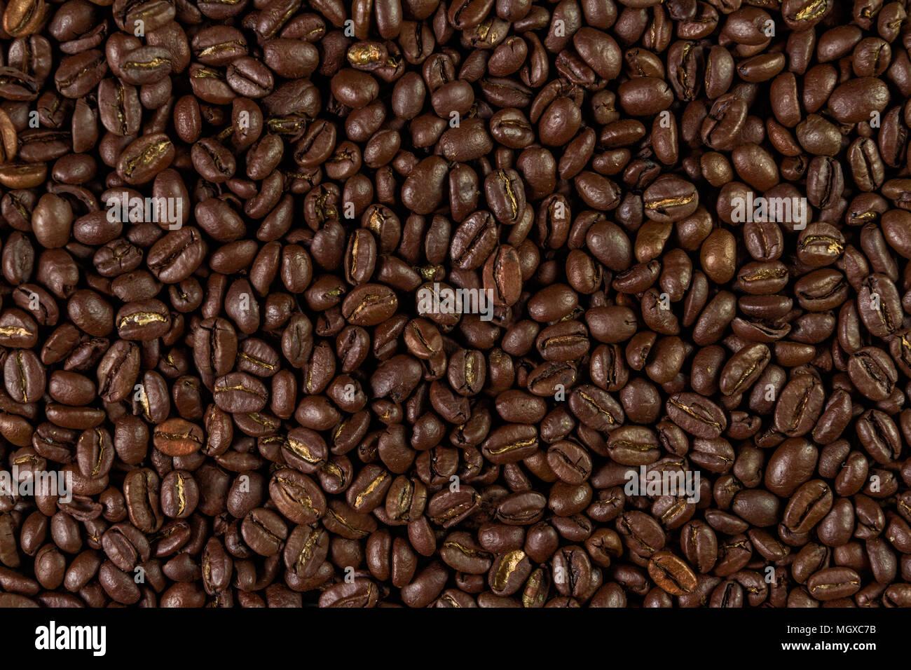 Arrière-plan de grains de café Photo Stock