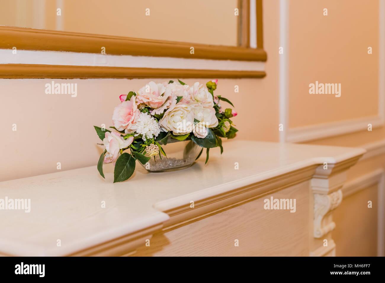 Feuille D Eucalyptus Bouquet belle fleur mariage bouquet de roses blanches, roses, avec