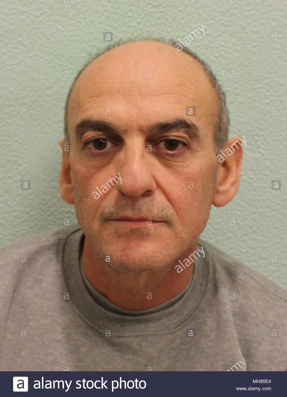 """Fichier document non daté de la Police métropolitaine photo de """"menteur et manipulateur"""" père Robert Peters, 56 ans, qui a été emprisonné à l'Old Bailey à vie avec une durée minimale de 24 ans pour étouffer ses sept-année-vieille fille Sophia. Photo Stock"""