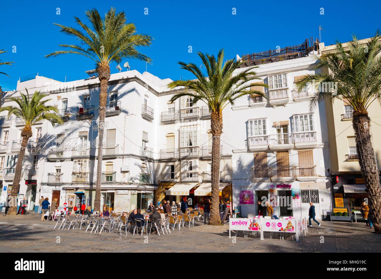 Plaza de la Catedral, Cadix, Andalousie, Espagne Banque D'Images