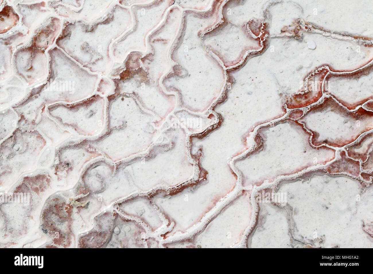 Pamukkale - dépôts de calcium à partir de sources thermales naturelles, Turquie Photo Stock