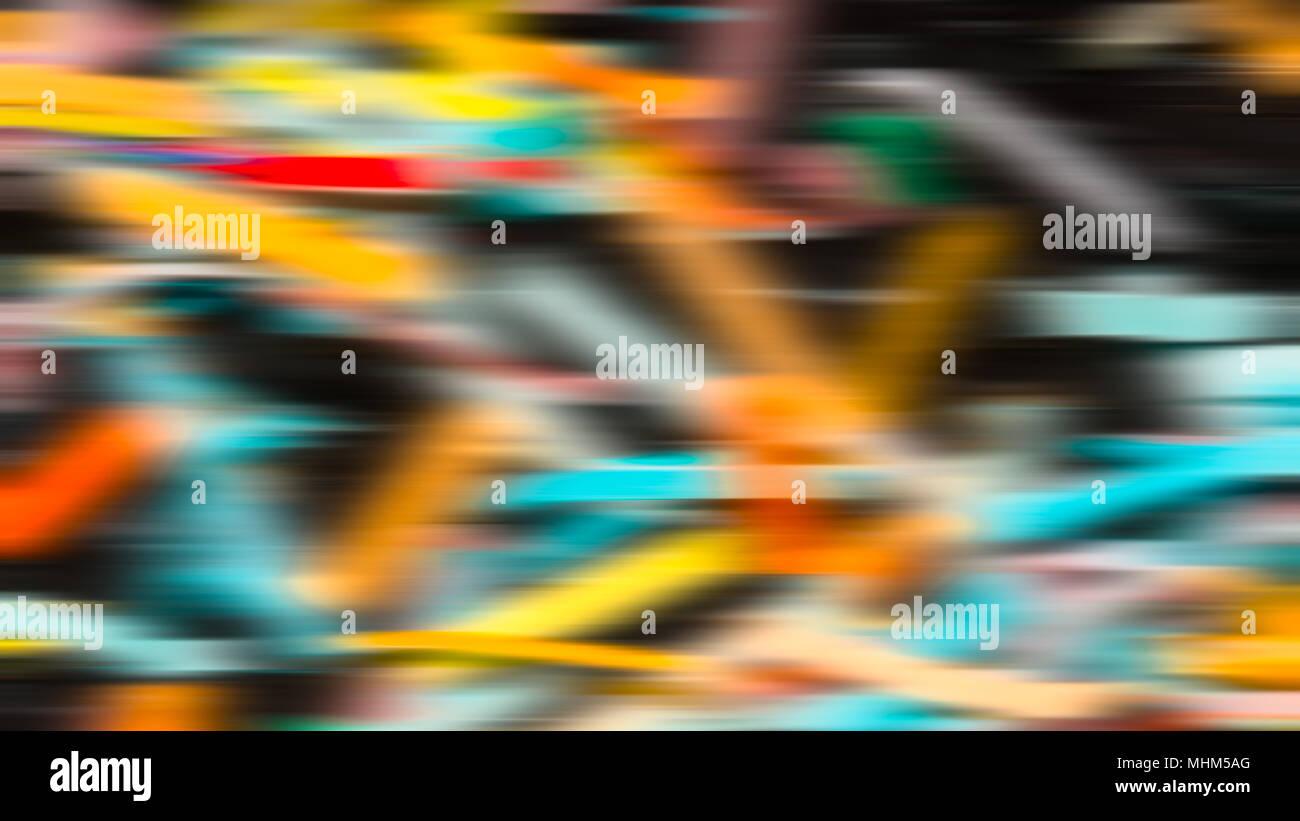 Résumé Contexte festif à partir de bandes de couleur. Texture spatiale bigarrée avec couleurs irisées provoque une impression 3D. Idée de fête ou d'un parti. Photo Stock